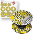 Decal Style Vinyl Skin Wrap 3 Pack for PopSockets Locknodes 03 Yellow (POPSOCKET NOT INCLUDED)