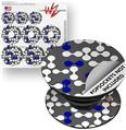 Decal Style Vinyl Skin Wrap 3 Pack for PopSockets Locknodes 04 Royal Blue (POPSOCKET NOT INCLUDED)