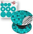 Decal Style Vinyl Skin Wrap 3 Pack for PopSockets Skull Patch Pattern Blue (POPSOCKET NOT INCLUDED)