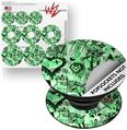 Decal Style Vinyl Skin Wrap 3 Pack for PopSockets Scene Kid Sketches Green (POPSOCKET NOT INCLUDED)