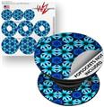 Decal Style Vinyl Skin Wrap 3 Pack for PopSockets Daisies Blue (POPSOCKET NOT INCLUDED)