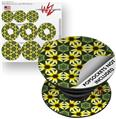 Decal Style Vinyl Skin Wrap 3 Pack for PopSockets Daisies Yellow (POPSOCKET NOT INCLUDED)