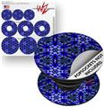 Decal Style Vinyl Skin Wrap 3 Pack for PopSockets Daisy Blue (POPSOCKET NOT INCLUDED)