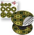 Decal Style Vinyl Skin Wrap 3 Pack for PopSockets Daisy Yellow (POPSOCKET NOT INCLUDED)