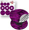 Decal Style Vinyl Skin Wrap 3 Pack for PopSockets Pink Zebra (POPSOCKET NOT INCLUDED) by WraptorSkinz
