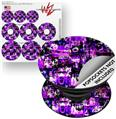 Decal Style Vinyl Skin Wrap 3 Pack for PopSockets Purple Graffiti (POPSOCKET NOT INCLUDED) by WraptorSkinz