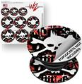 Decal Style Vinyl Skin Wrap 3 Pack for PopSockets Punk Rock Skull (POPSOCKET NOT INCLUDED)