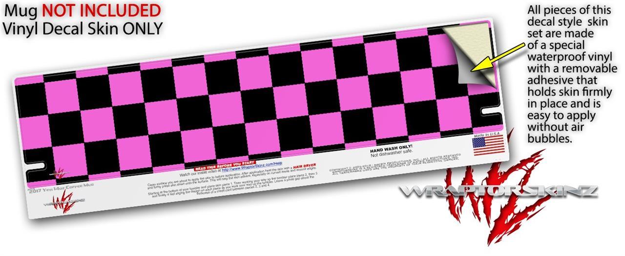 Yeti Rambler Coffee Mug 14oz Checkers Pink | uSkins