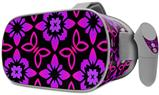 Decal style Skin Wrap compatible with Oculus Go Headset - Pink Floral (OCULUS NOT INCLUDED)