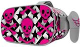 Decal style Skin Wrap compatible with Oculus Go Headset - Pink Skulls and Stars (OCULUS NOT INCLUDED)