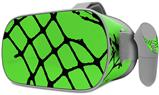 Decal style Skin Wrap compatible with Oculus Go Headset - Ripped Fishnets Green (OCULUS NOT INCLUDED)