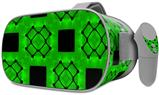 Decal style Skin Wrap compatible with Oculus Go Headset - Criss Cross Green (OCULUS NOT INCLUDED)