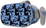 Decal style Skin Wrap compatible with Oculus Go Headset - Skull Checker Blue (OCULUS NOT INCLUDED)