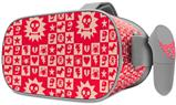 Decal style Skin Wrap compatible with Oculus Go Headset - Gothic Punk Pattern Red (OCULUS NOT INCLUDED)