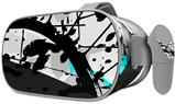Decal style Skin Wrap compatible with Oculus Go Headset - Baja 0018 Neon Teal (OCULUS NOT INCLUDED)