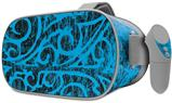 Decal style Skin Wrap compatible with Oculus Go Headset - Folder Doodles Blue Medium (OCULUS NOT INCLUDED)