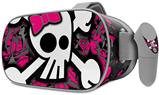 Decal style Skin Wrap compatible with Oculus Go Headset - Girly Skull Bones (OCULUS NOT INCLUDED)