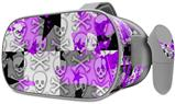 Decal style Skin Wrap compatible with Oculus Go Headset - Purple Checker Skull Splatter (OCULUS NOT INCLUDED)