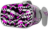 Decal style Skin Wrap compatible with Oculus Go Headset - Zebra Pink Skulls (OCULUS NOT INCLUDED)