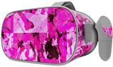 Decal style Skin Wrap compatible with Oculus Go Headset - Pink Plaid Graffiti (OCULUS NOT INCLUDED)