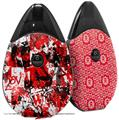Skin Decal Wrap 2 Pack compatible with Suorin Drop Red Graffiti VAPE NOT INCLUDED