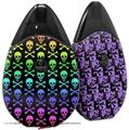 Skin Decal Wrap 2 Pack compatible with Suorin Drop Skull and Crossbones Rainbow VAPE NOT INCLUDED