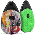 Skin Decal Wrap 2 Pack compatible with Suorin Drop Abstract Graffiti VAPE NOT INCLUDED