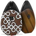 Skin Decal Wrap 2 Pack compatible with Suorin Drop Locknodes 03 Chocolate Brown VAPE NOT INCLUDED