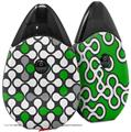 Skin Decal Wrap 2 Pack compatible with Suorin Drop Locknodes 05 Green VAPE NOT INCLUDED