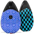 Skin Decal Wrap 2 Pack compatible with Suorin Drop Gothic Punk Pattern Blue VAPE NOT INCLUDED