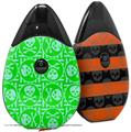 Skin Decal Wrap 2 Pack compatible with Suorin Drop Skull Patch Pattern Green VAPE NOT INCLUDED