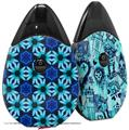 Skin Decal Wrap 2 Pack compatible with Suorin Drop Daisies Blue VAPE NOT INCLUDED