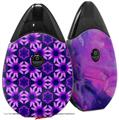 Skin Decal Wrap 2 Pack compatible with Suorin Drop Daisies Purple VAPE NOT INCLUDED