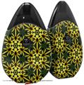Skin Decal Wrap 2 Pack compatible with Suorin Drop Daisy Yellow VAPE NOT INCLUDED