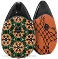 Skin Decal Wrap 2 Pack compatible with Suorin Drop Floral Pattern Orange VAPE NOT INCLUDED