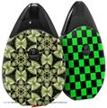 Skin Decal Wrap 2 Pack compatible with Suorin Drop Leave Pattern 1 Green VAPE NOT INCLUDED