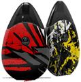 Skin Decal Wrap 2 Pack compatible with Suorin Drop Baja 0040 Red VAPE NOT INCLUDED