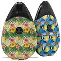 Skin Decal Wrap 2 Pack compatible with Suorin Drop Beach Flowers 02 Yellow Sunshine VAPE NOT INCLUDED