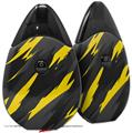 Skin Decal Wrap 2 Pack compatible with Suorin Drop Jagged Camo Yellow VAPE NOT INCLUDED