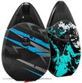 Skin Decal Wrap 2 Pack compatible with Suorin Drop Baja 0014 Blue Medium VAPE NOT INCLUDED