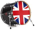 "Vinyl Decal Skin Wrap for 22"" Bass Kick Drum Head Union Jack 02 - DRUM HEAD NOT INCLUDED"