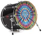 "Vinyl Decal Skin Wrap for 22"" Bass Kick Drum Head Tie Dye Swirl 101 - DRUM HEAD NOT INCLUDED"