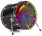"Vinyl Decal Skin Wrap for 22"" Bass Kick Drum Head And This Is Your Brain On Drugs - DRUM HEAD NOT INCLUDED"