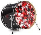 "Vinyl Decal Skin Wrap for 22"" Bass Kick Drum Head Red Graffiti - DRUM HEAD NOT INCLUDED"