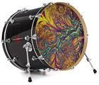 "Vinyl Decal Skin Wrap for 22"" Bass Kick Drum Head Fire And Water - DRUM HEAD NOT INCLUDED"