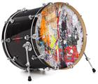 "Vinyl Decal Skin Wrap for 22"" Bass Kick Drum Head Abstract Graffiti - DRUM HEAD NOT INCLUDED"