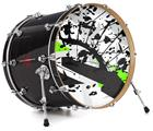 "Vinyl Decal Skin Wrap for 22"" Bass Kick Drum Head Baja 0018 Lime Green - DRUM HEAD NOT INCLUDED"