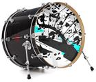 "Vinyl Decal Skin Wrap for 22"" Bass Kick Drum Head Baja 0018 Neon Teal - DRUM HEAD NOT INCLUDED"