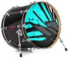"Vinyl Decal Skin Wrap for 22"" Bass Kick Drum Head Baja 0040 Neon Teal - DRUM HEAD NOT INCLUDED"
