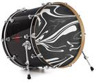 "Vinyl Decal Skin Wrap for 22"" Bass Kick Drum Head Black Marble - DRUM HEAD NOT INCLUDED"